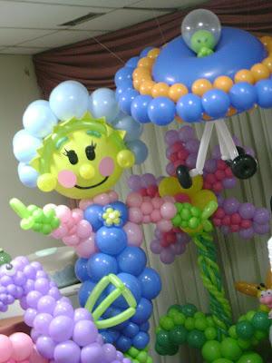 fotos de decoração com balão