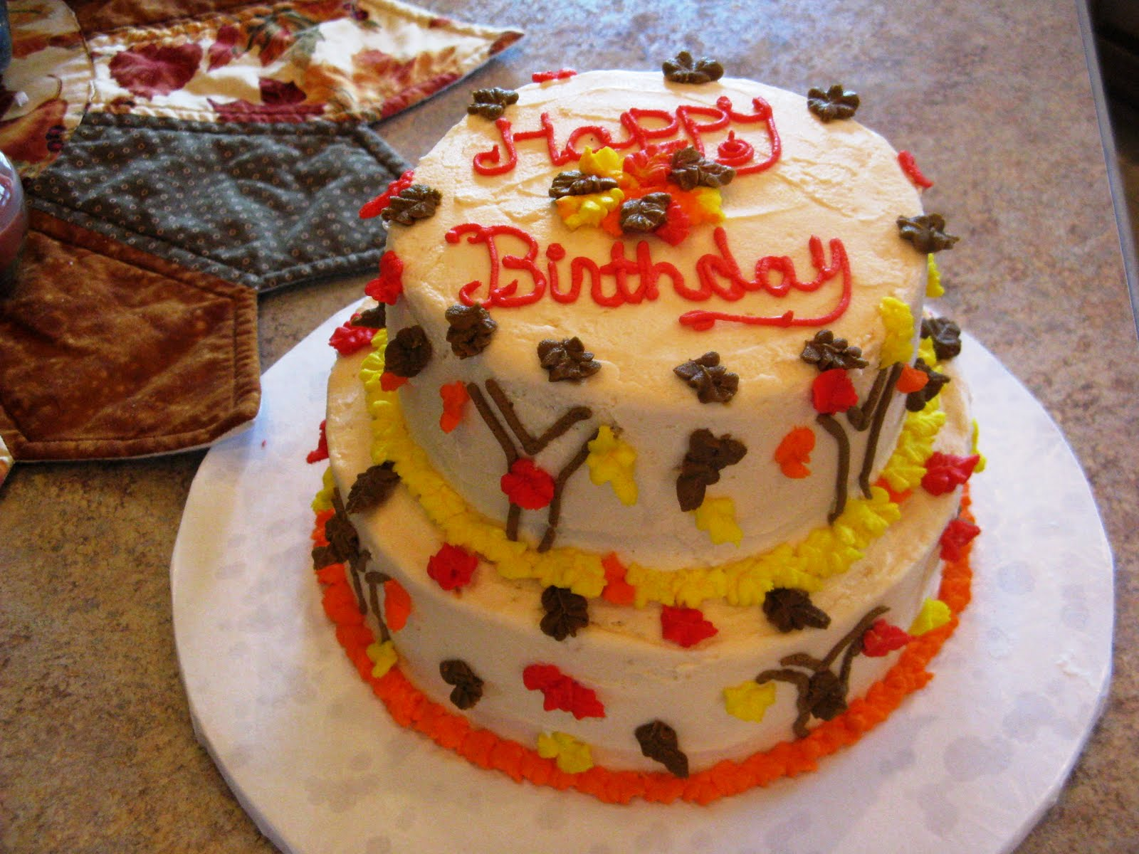 Free fall cake ideas 66695 autumn birthday cake ideas imag for Autumn cake decoration