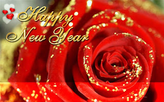 new year wish with a rose