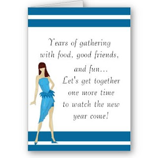 new years party invitations cards