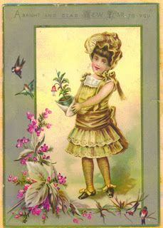 Free Victorian happy New Year Cards