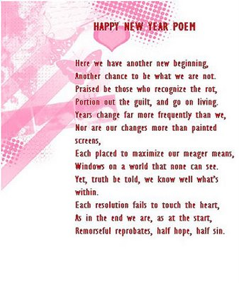 Year Wishes Messages on New Year Cards  New Year Poem Cards  Happy New Year Poetic Wishes
