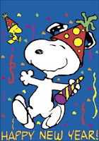 new year wishes by snoopy