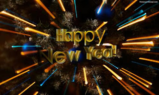 3d Happy New Year Card