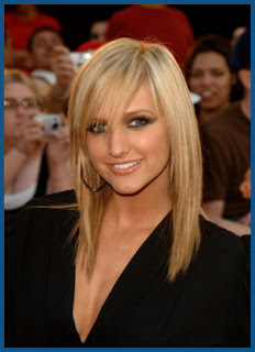 Ashlee Simpson trendy hairstyle