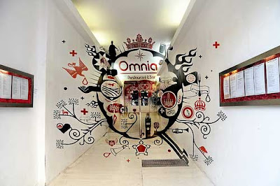 Omnia Restaurant Optical Illusion