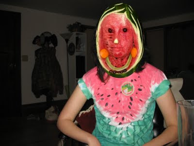 Watermelon Face Illusion
