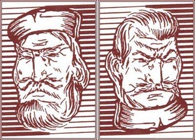 Sailor or Stalin - Upside Down Optical Illusion