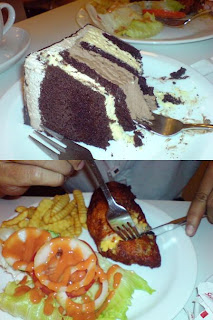 Chocolate Indulgence & Chicken Cordon'Bleu..