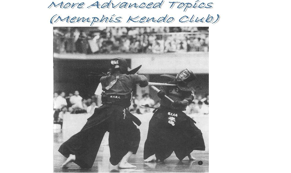 Advanced Kendo Topics (Memphis Kendo Club)