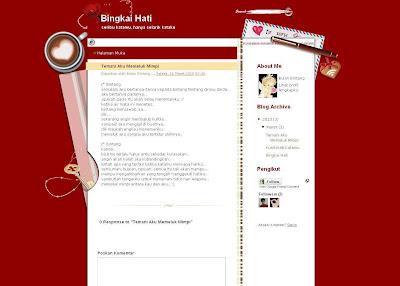 Blog Bingkai Hati Blognya Bulan Bintang Kaya Lagunya Rhoma Irama