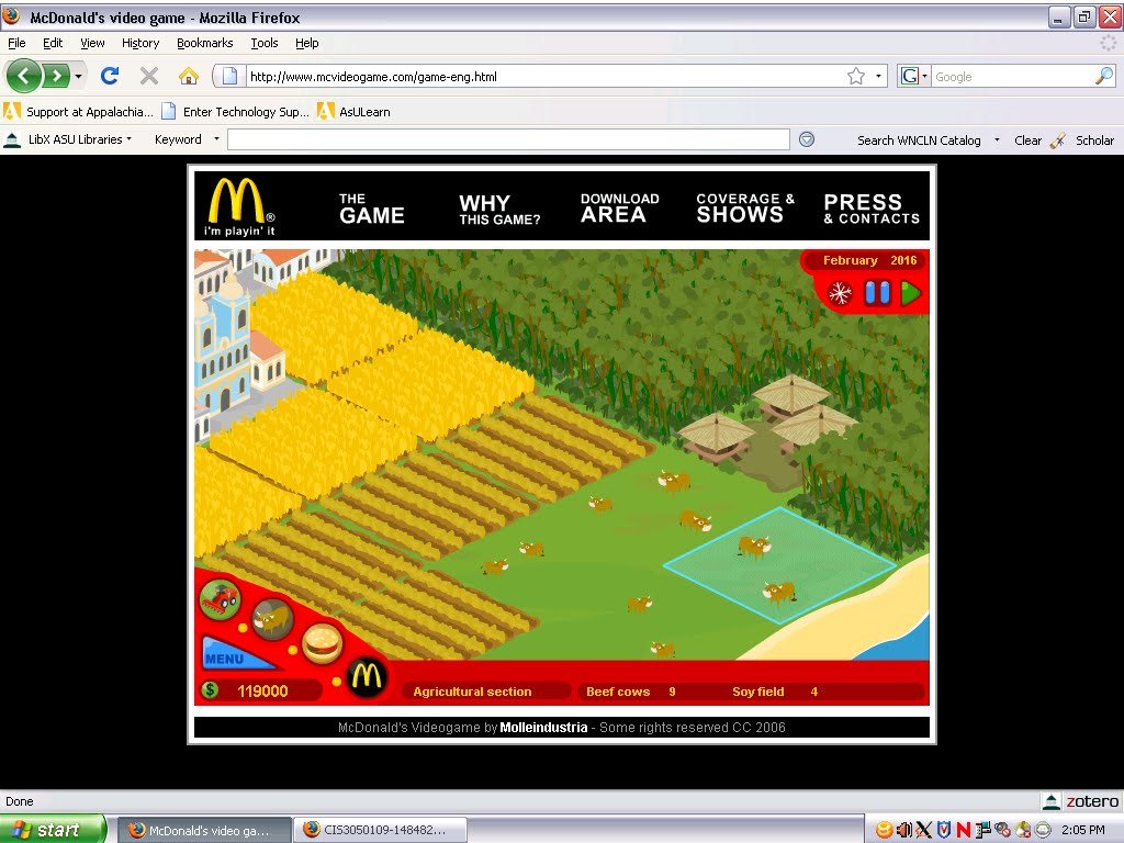 mcdonalds the game