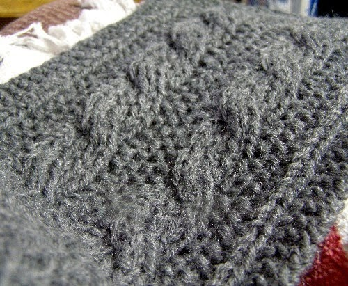 Jills Chat Reversible Cable Scarf Pattern