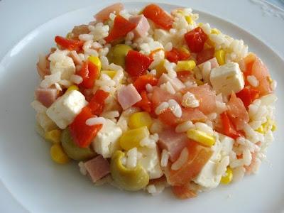 Cristina and a ensalada de arroz f cil y mart n berasategui - Ensalada de arroz light ...