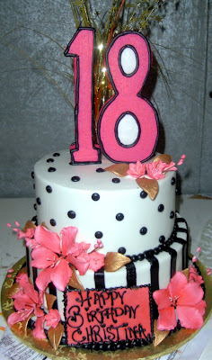 18th Birthday Cakes on Here S A Special 18th Birthday Cake For One Of Our Favorite Celebrity