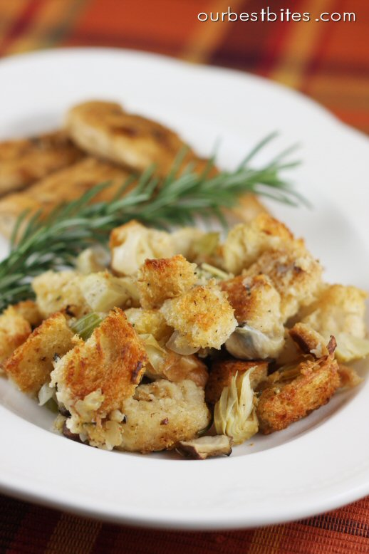 "Artichoke Parmesan Sourdough Stuffing {Or ""Dressing"" actually!} - O..."
