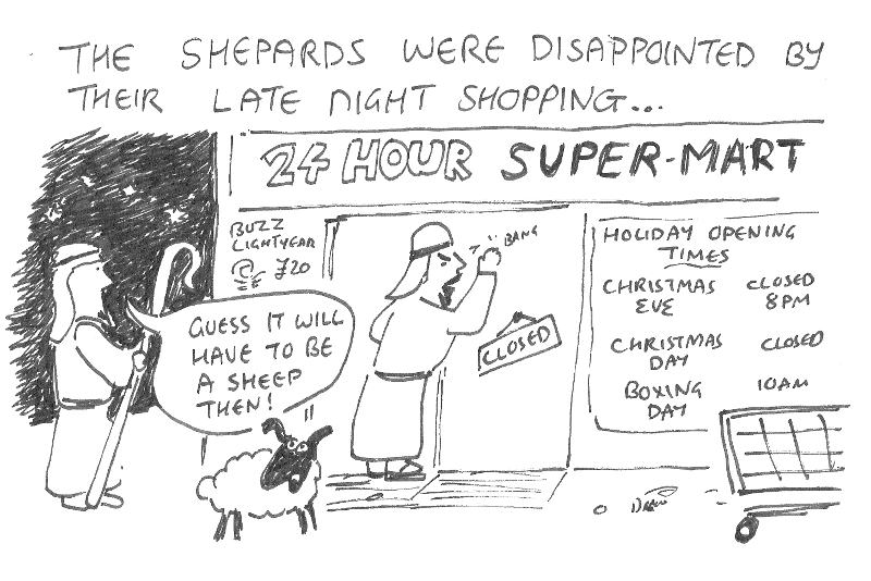 Shepards Advent Cartoon
