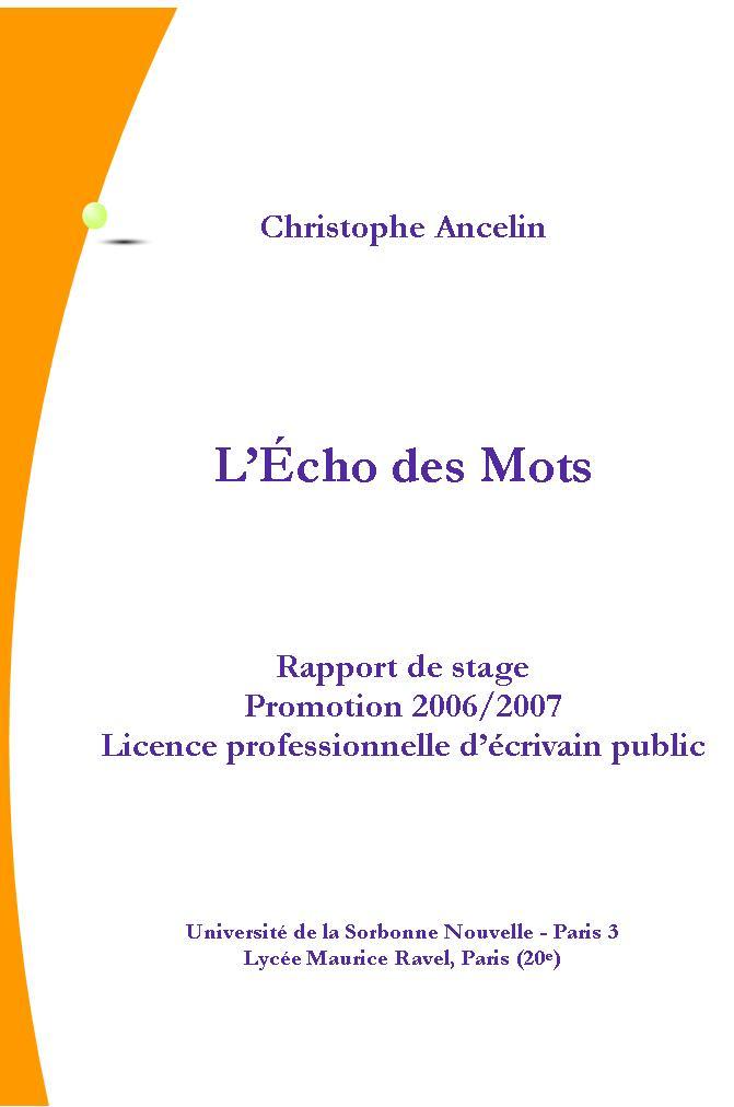modele rapport de stage master 1 droit