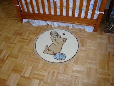 Classic Pooh Rug Squares Nursery