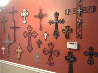 Home sweet home another day another trip to hobby lobby for Cross wall decor ideas