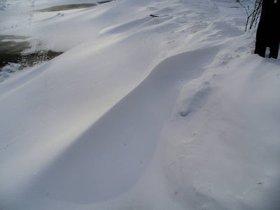 Drifting snow