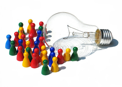 bulb, team, brain, useful, idea, advantage, blog, light bulb, team work