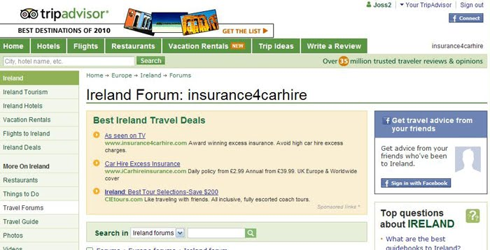 On TripAdvisor's Ireland travel forum , travelers are asking questions ...