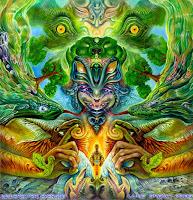 Arte de Luke Brown sobre os efeitos da Sávia