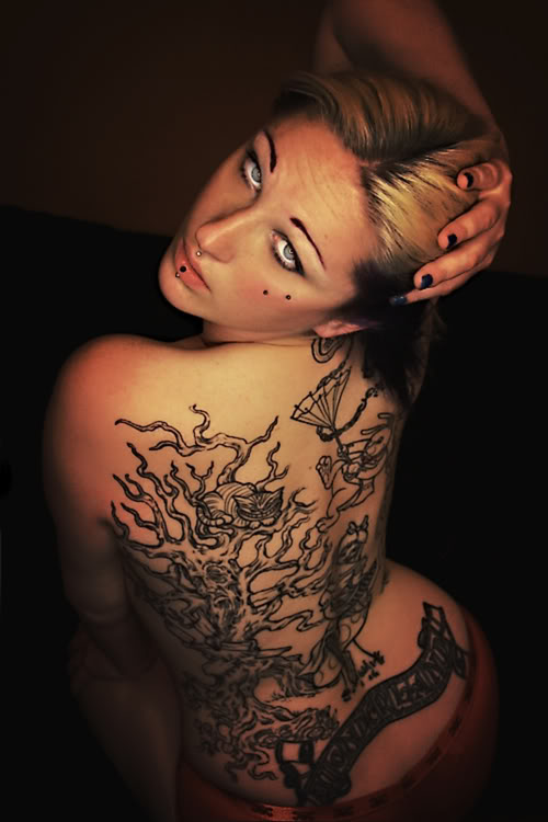Label: Beautiful Tattoo - Back Tattoos For Women