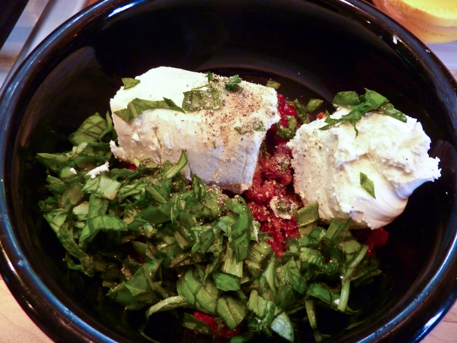 ... Chicken Breasts Stuffed with Goat Cheese, Sun-Dried Tomatoes and Basil