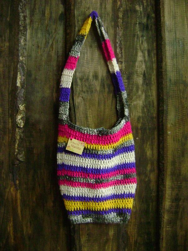 bolsos y carteras tejidas a crochet