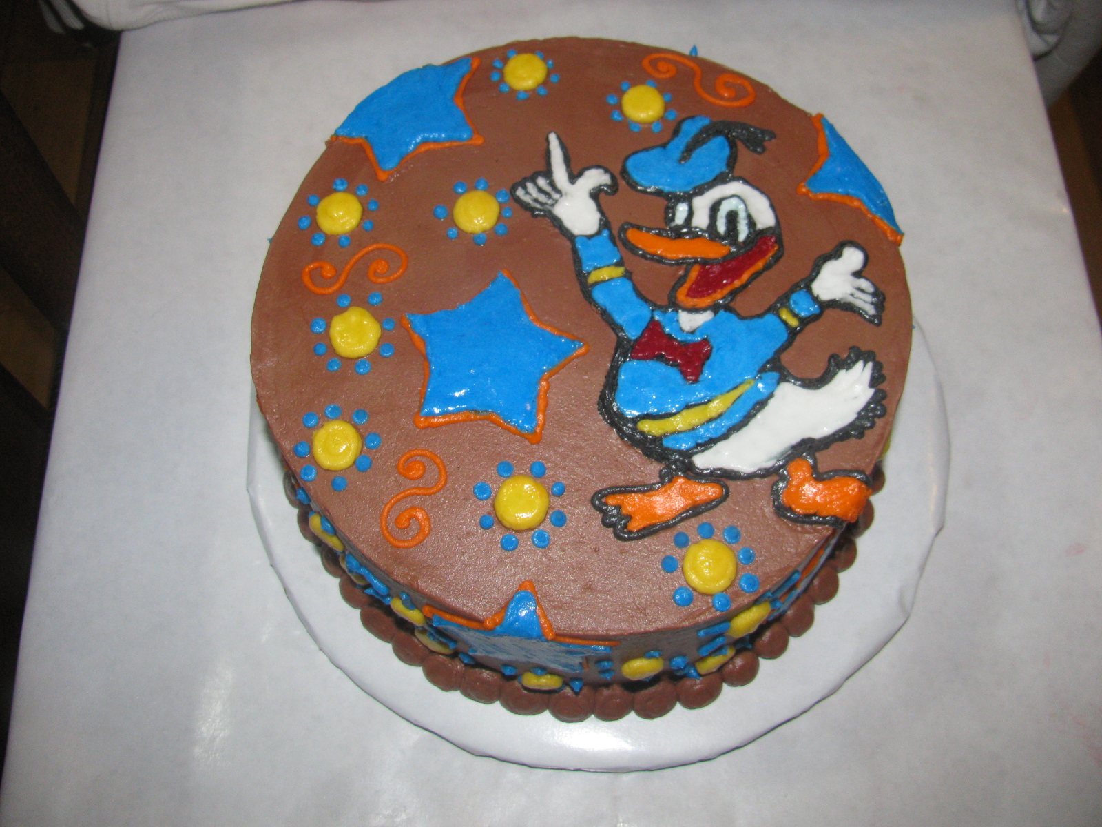 Birthday Cake Center Donald Duck