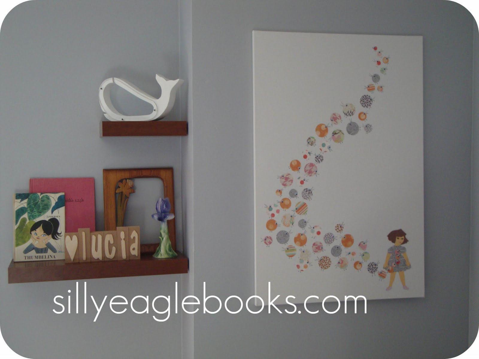 Silly Eagle Books: book-inspired nursery art: button beaks