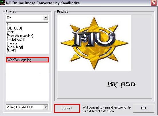 Conversión de jpg a bmd