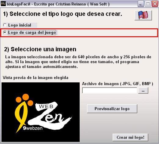 Logo de carga para el cliente del mu online
