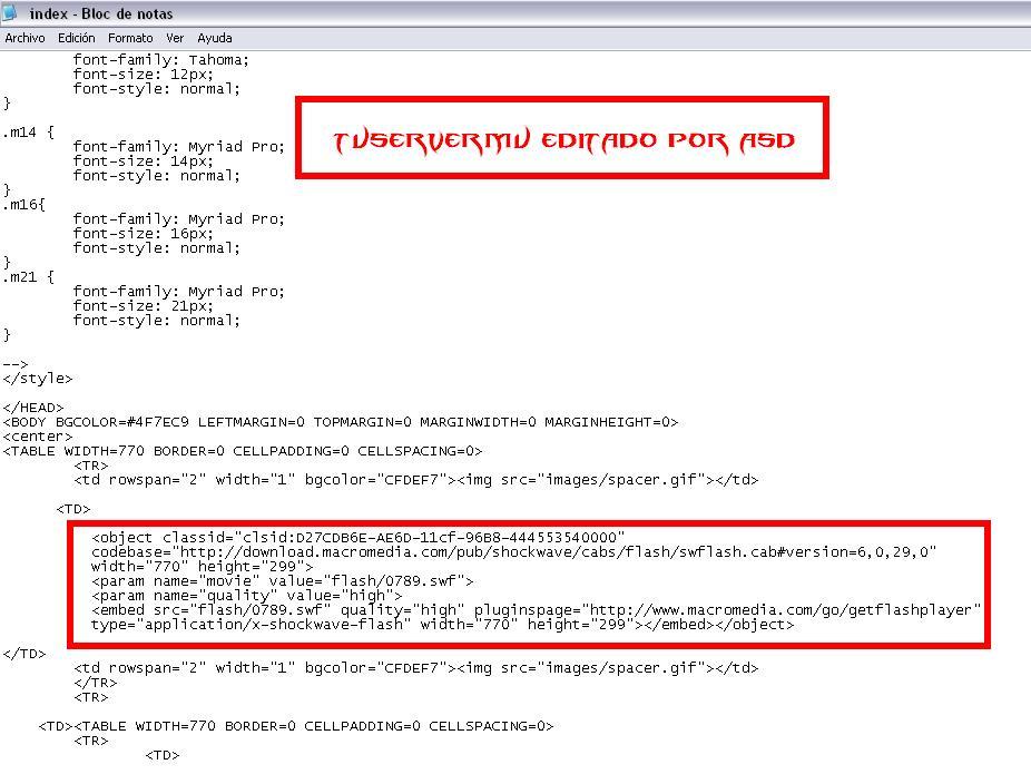 Agregando el código para insertar el menu