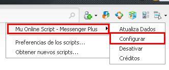 Configurando script