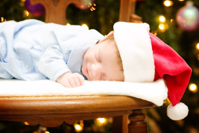 newborn with Santa Hat