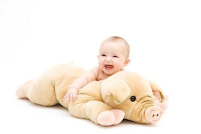 happy baby girl photo