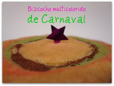 gâteaux multicolores du Carnaval Bolo+carnaval