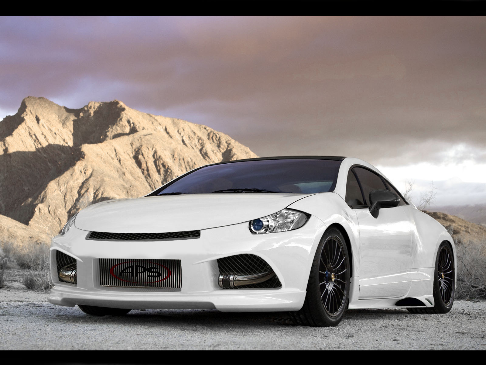 Mitsubishi Eclipse GT Front View HD Wallpaper