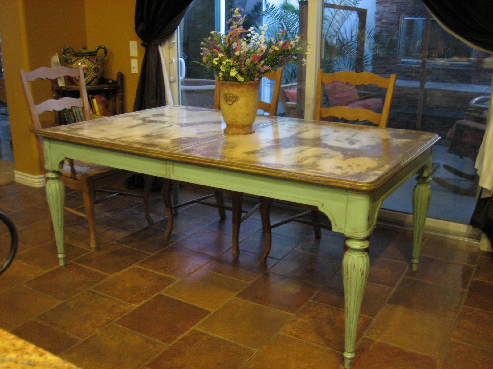 european paint finishes: ~ victorian cottage table ~