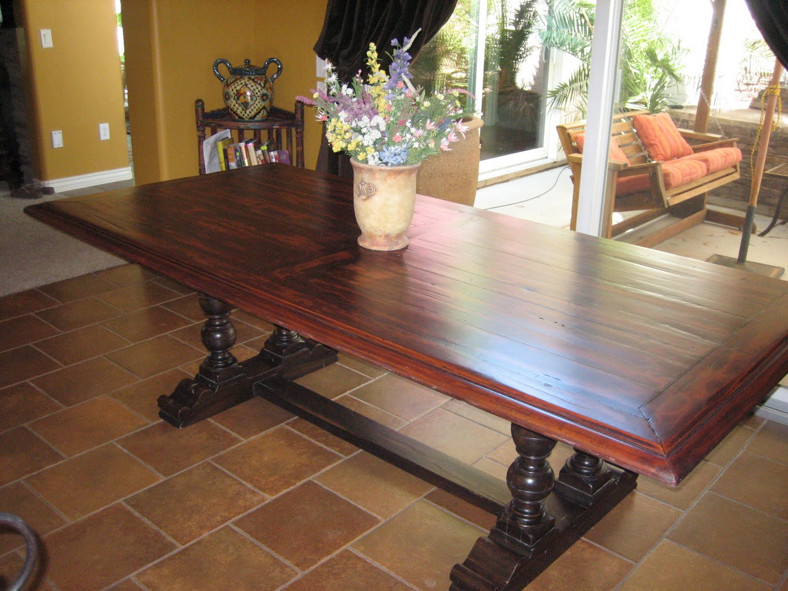 European Paint Finishes: ~ Spanish Colonial Trestle Table