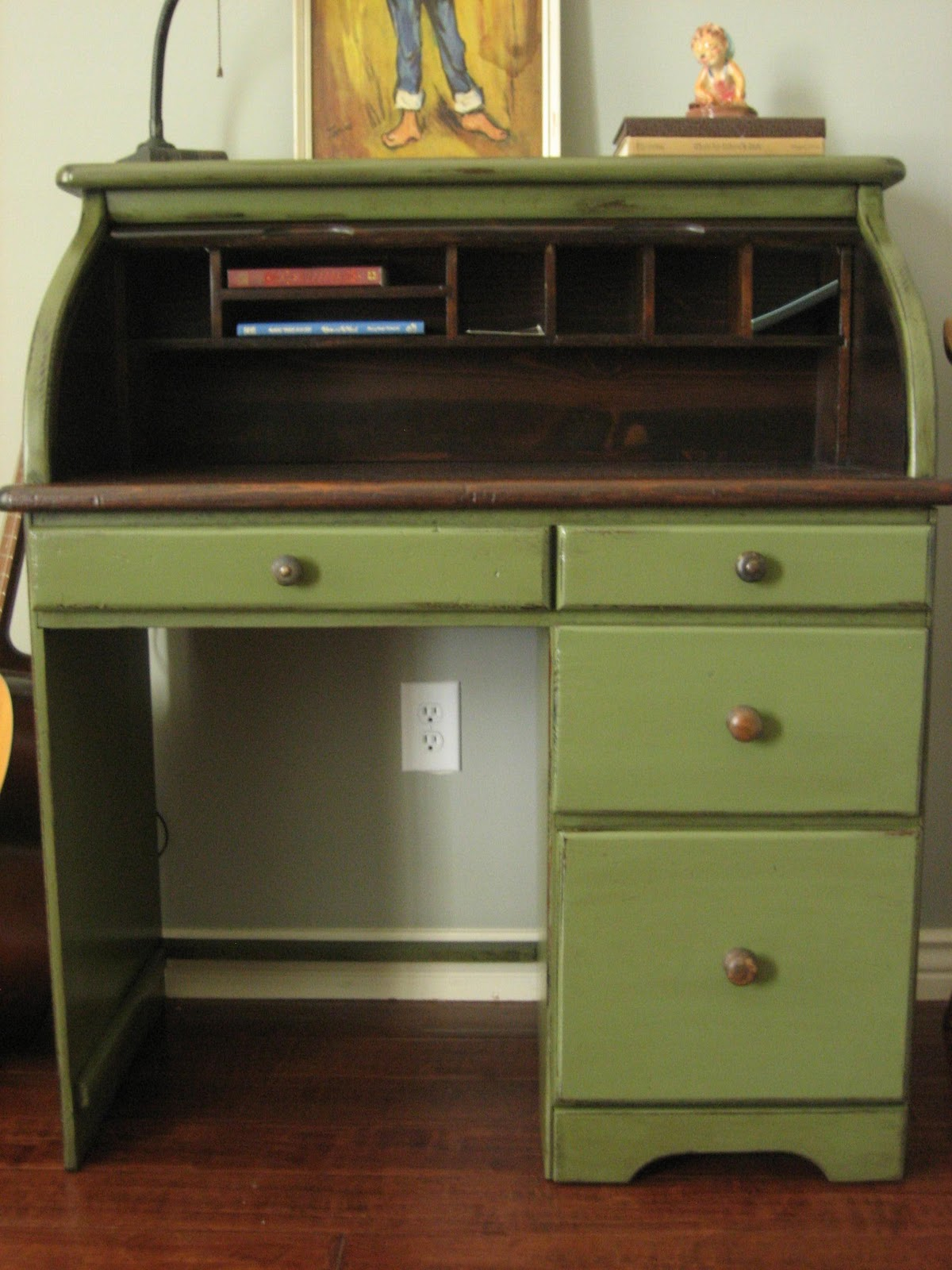 european paint finishes vintage roll top desk. Black Bedroom Furniture Sets. Home Design Ideas