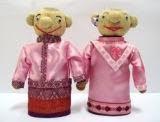 boneka horta etnik melayu couple pink