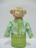 boneka horta Etnik Melayu Male hijau