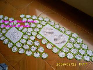 Crochês da Márcinha: Caminhos de Mesa em crochet com linha de seda