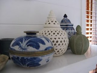 Chamomile and Peppermint Blog - Interior Inspirations - Indigo Obsession Blog - pretty containers