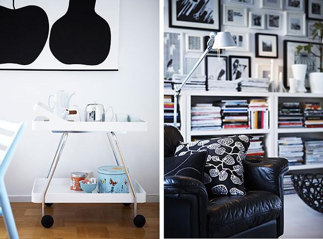 Very lovely work from interior designer and stylist Sofie Lawett .