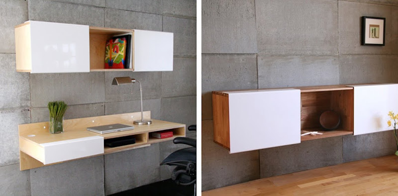 Wall Mounted Desk Shelves